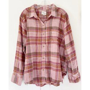 NEW American Eagle Soft Distressed Flannel Shirt